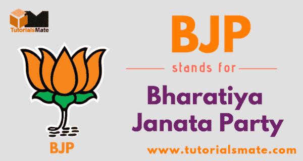 BJP Full Form
