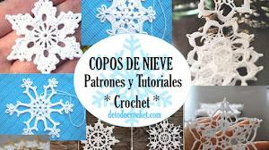 Apliques tejidos con ganchillo con motivos de cristales de hielo ❄️