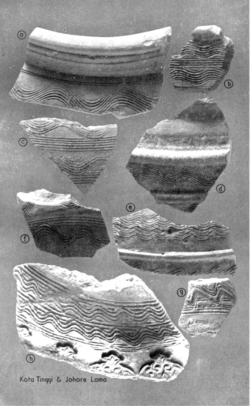 Pottery with comb-incised wavy and linear designs