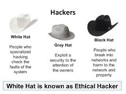 aba3f78fe6c Black hat hackers are they bad guys who hacked for money and information .  White hat are more like police officers and ethical hackers whos usually  help ...