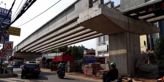 Proyek Infrastruktur Jembatan Layang di Bandar Lampung Retak
