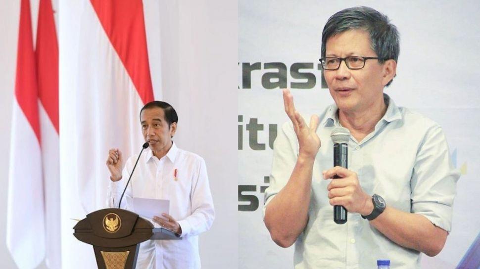 Hampir Satu Dekade Jokowi Pakai Metode Blusukan, Rocky Gerung: Pola Pencitraan Dia Tak Ada Bedanya, Selalu Bawa Kamera
