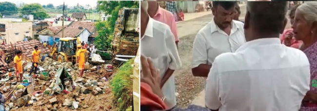 Villagers of Nadur near Mettupalayam have denied that they will convert to Islam over the collapse of a wall which killed 17 people