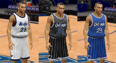 NBA 2K13 Orlando Magic Classic Jersey Mods