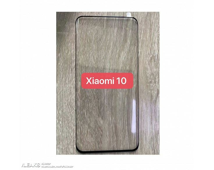 Live photo confirmed the absence of cutouts and holes in Xiaomi Mi 10