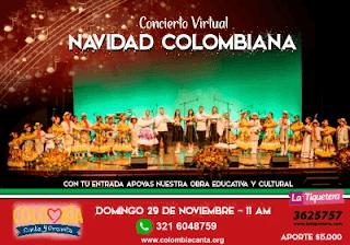 Concierto Navidad Colombia Canta 2020