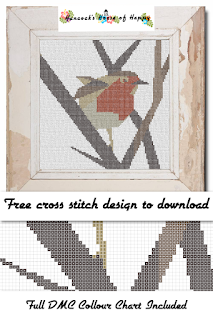 Robin Cross Stitch Pattern