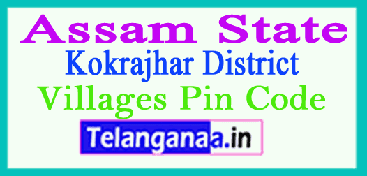 Kokrajhar District Pin Codes in Assam State
