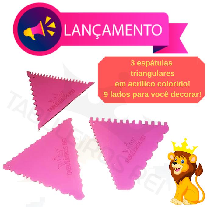 Lançamento - Espátulas decorativas triangulares para chantilly  em acrílico