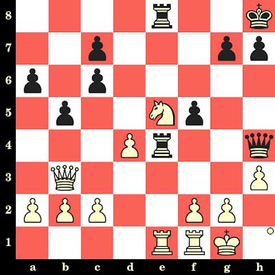 Les Blancs jouent et matent en 4 coups - Estival Puig vs Allam, Leipzig, 1960