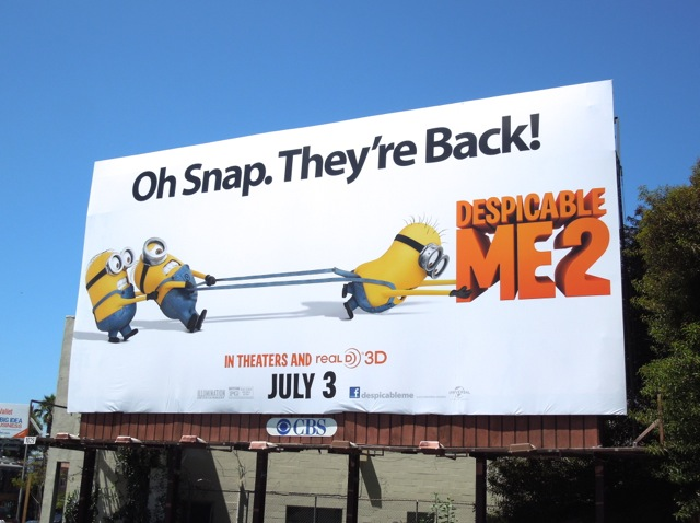Despicable Me 2 movie billboard
