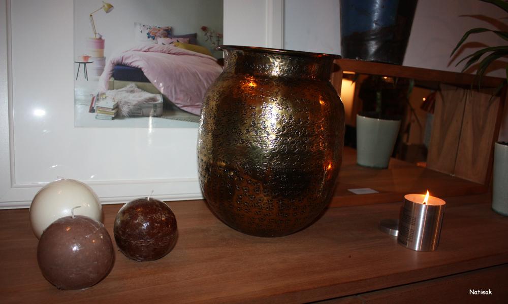 vase déco finition laiton  Baha Dutchbone