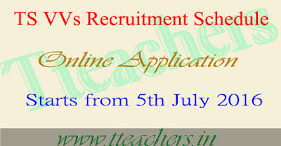 TS VVs Recruitment Notification 2016 schedule vidya volunteers apply online