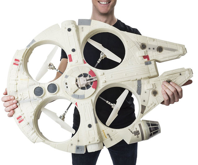 Now you can fly the ship that made the Kessel Run in less than twelve parsecs. A version 1/100th the size, sure, but she's got it where it counts, kid. With its LED lights and iconic sounds, you'll be roaring like a Wookiee in no time!