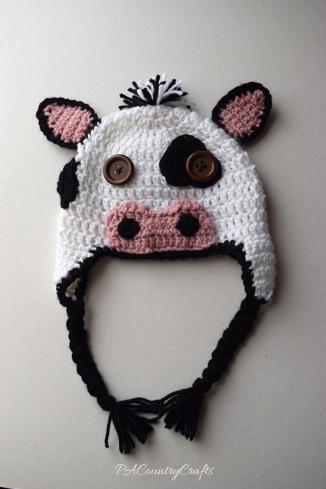 Crochet Cow Hats | PA Country Crafts