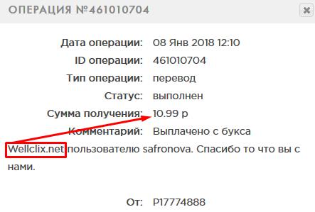 Русские буксы - выплата с WellClix