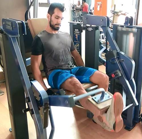 Entrenando pierna en Bodytech Jardin plaza