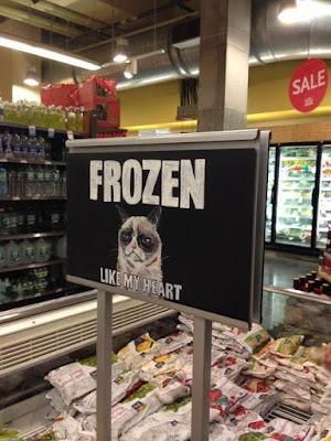 Witziger Spruch - Kühltheke Kaufhalle