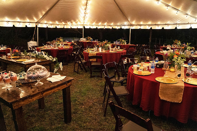wedding reception at Shadowood Farms wedding in Palm City Florida photo by Houghton Photography