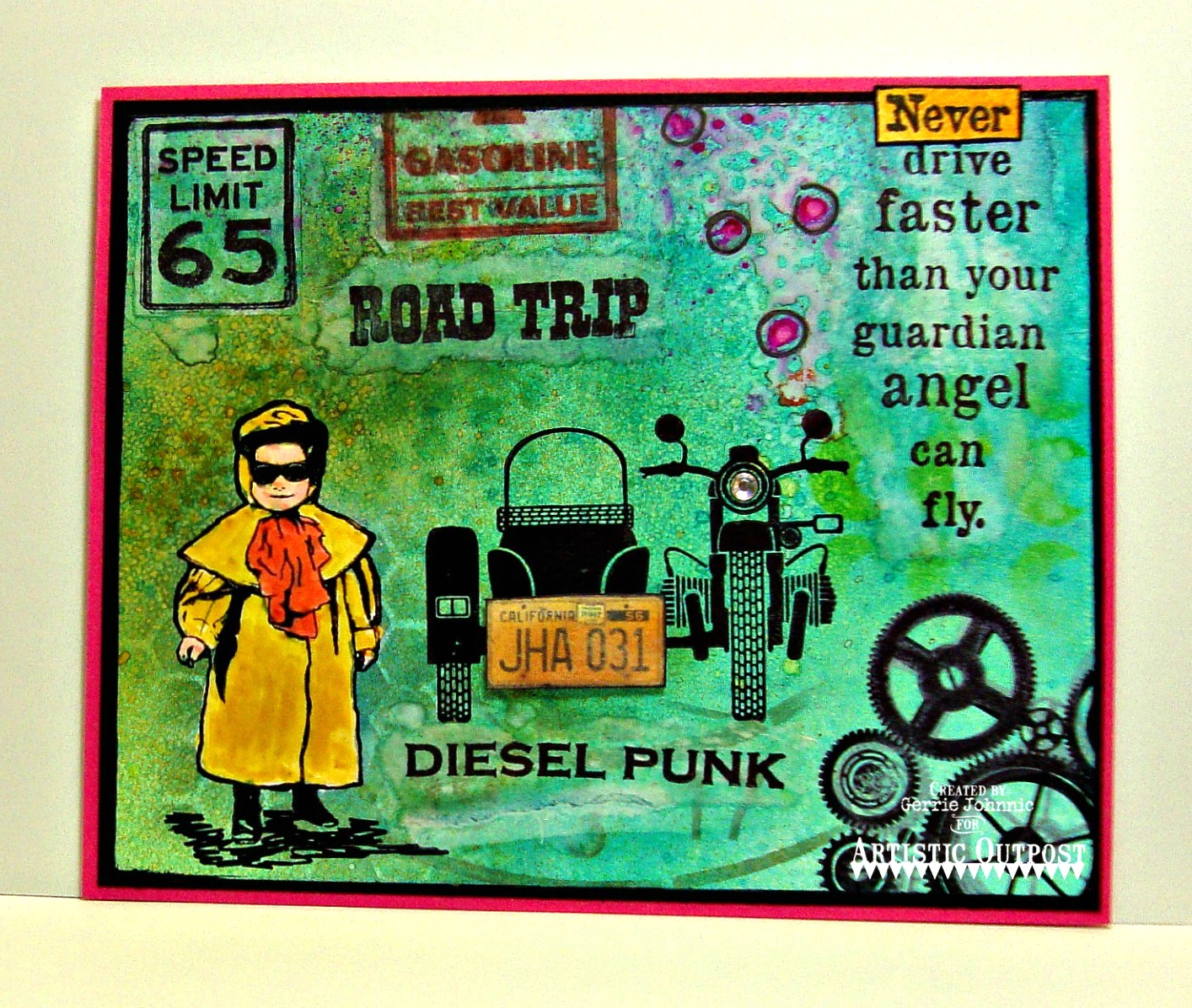 Stamps - Artistic Outpost Diesel Punk, Route 66, Industrial Backgrounds