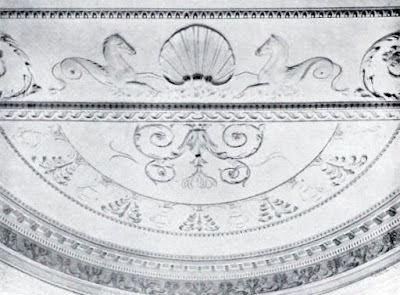 Ceiling of the bay window in the Saloon, Hatchlands  from The architecture of Robert and James Adam by AT Bolton (1922)