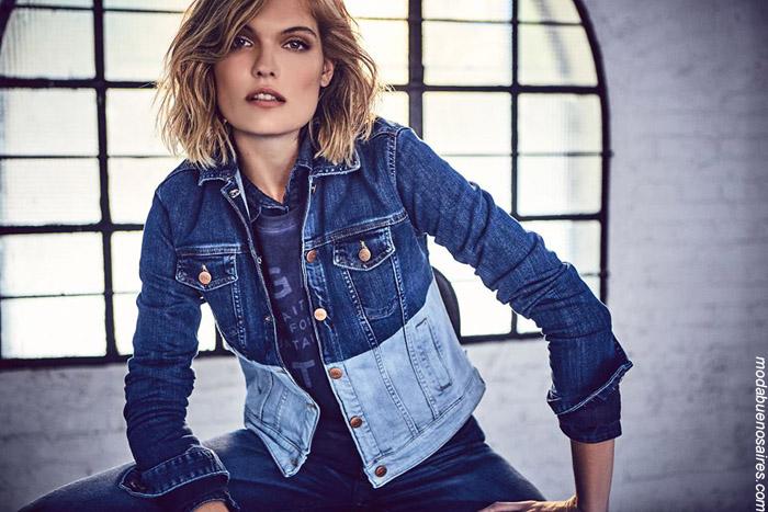 Camperas de jeans invierno 2019. Moda mujer urbana invierno 2019.