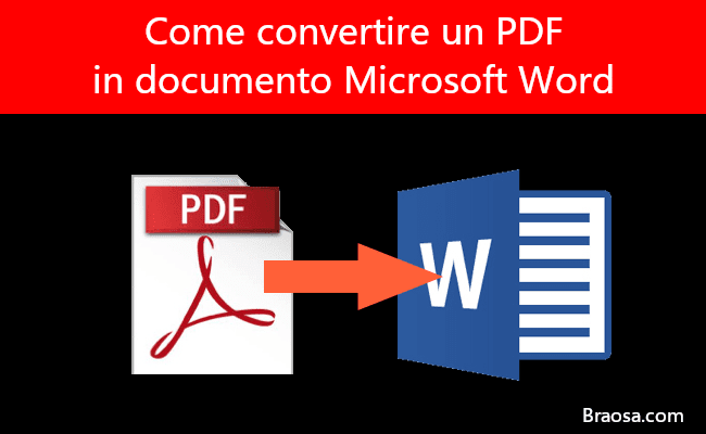 Come convertire un PDF in un documento di Microsoft Word