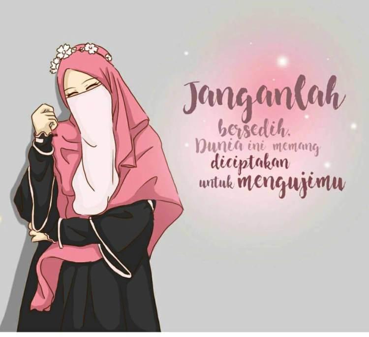 300 Gambar Kartun Muslimah Keren Wallpaper Pixasa Foto