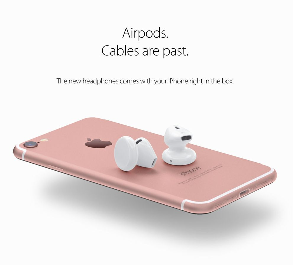 iphone 7 new concept with wireless earpods hd gadgets arena. Black Bedroom Furniture Sets. Home Design Ideas