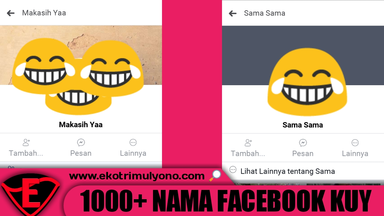 Kumpulan Nama Facebook Yang Bagus Unik Keren Singkat Etc
