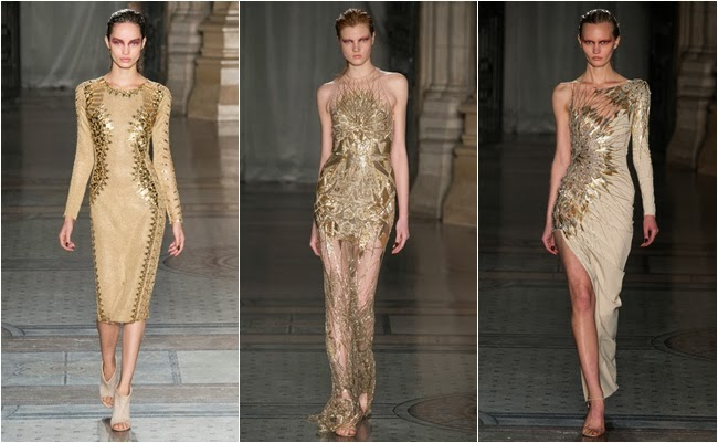 Julien Macdonald gold dresses