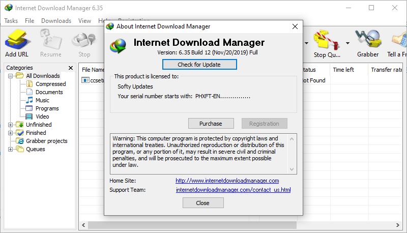 Internet Download Manager 6.35 Build 12