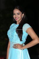 Pujita Ponnada in transparent sky blue dress at Darshakudu pre release ~  Exclusive Celebrities Galleries 077.JPG