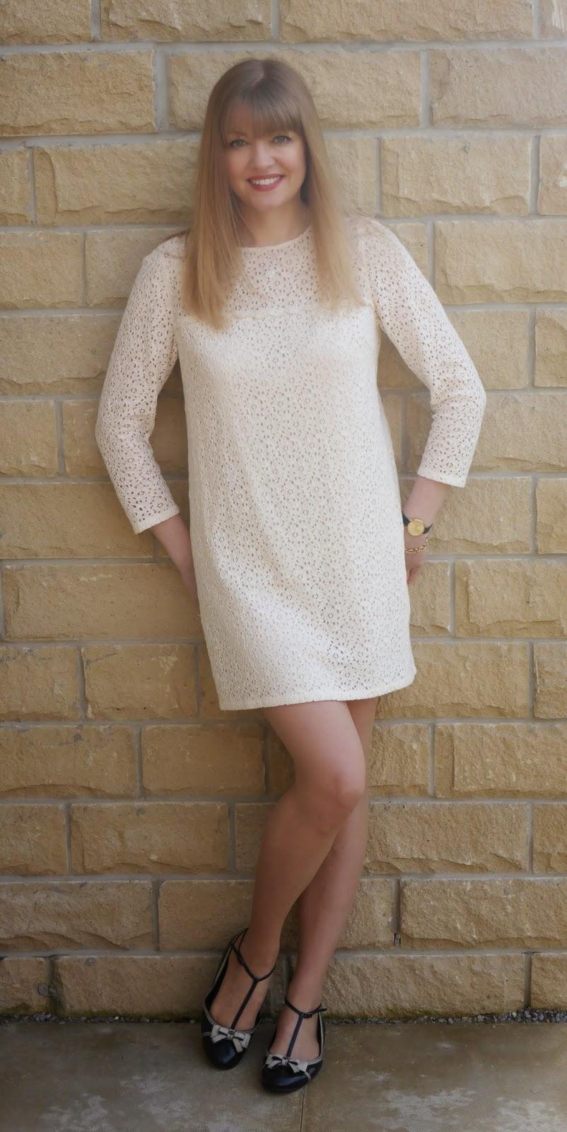 Jack Wills cream lace tunic dress
