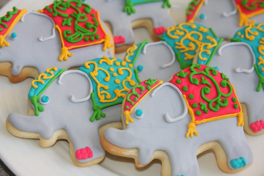 rock.paper&sugar: bollywood elephant cookies