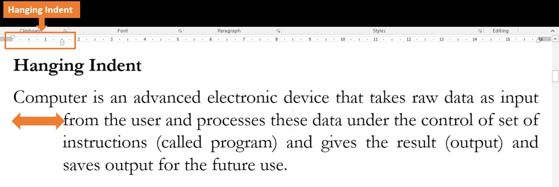 MS-Word Line Paragraph Spacing