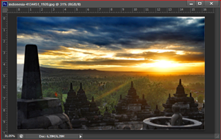 tulisan transparan di photoshop