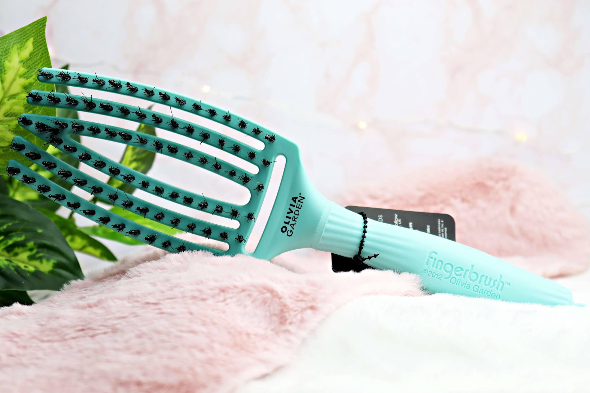 Olivia Garden Szczotka do włosów Finger Brush Tropical Mint
