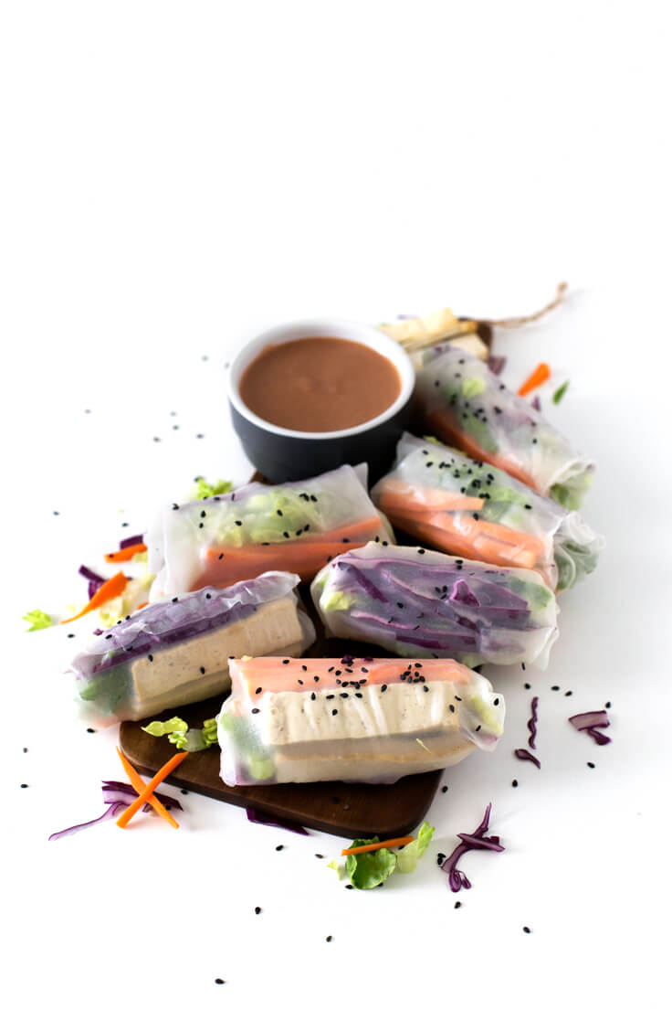 Vietnamese rolls: Vietnamese rolls are very refreshing and easy to prepare. You can use your favourite vegetables, ingredients or sauces; they are always delicious!