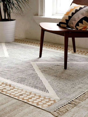 Exquisite living room rugs ideas Calisa block printed rug