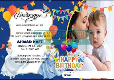 contoh desain undangan ulang tahun