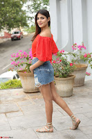Rhea Chakraborty in Red Crop Top and Denim Shorts Spicy Pics ~  Exclusive 178.JPG