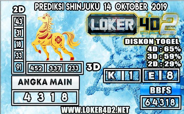 PREDIKSI TOGEL SHINJUKU POOLS LOKER4D2 14 OKTOBER 2019