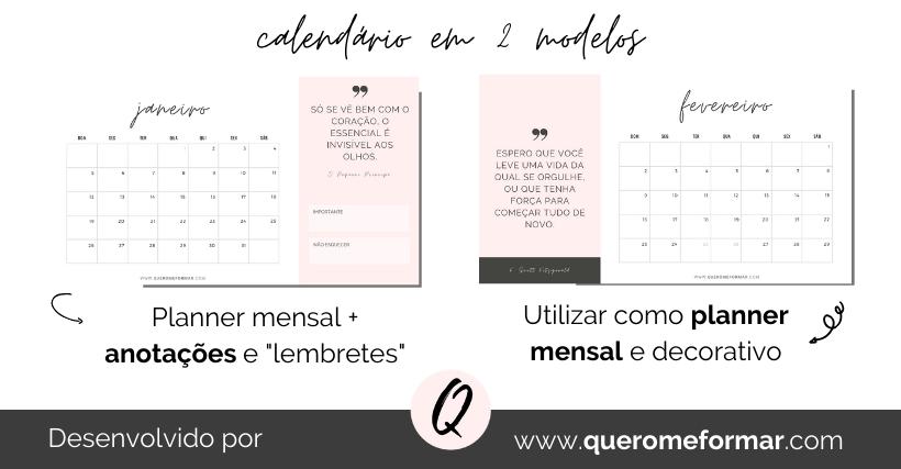 Calendários 2020 Gratuitos e Personalizados para Fazer Download e Imprimir