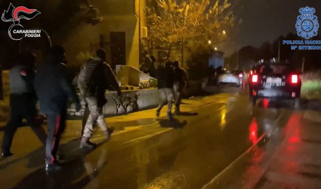 Droga dalla Spagna a San Severo, Carabinieri e Policia Nacional arrestano due persone