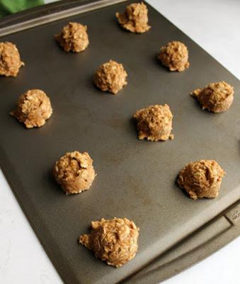 scoops of banana bread cookie dough
