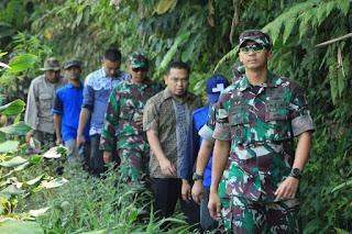 Dandim 0607/Kota Sukabumi Tinjau Lokasi Bhakti TNI