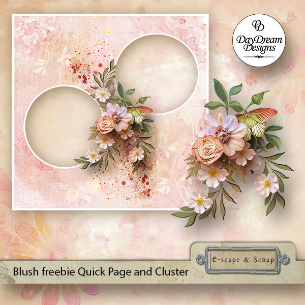 Blush Kit plus Free Quick Page and Cluster