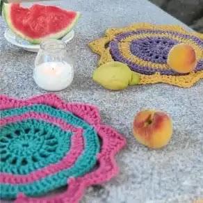 Posaplatos Ibiza a Crochet
