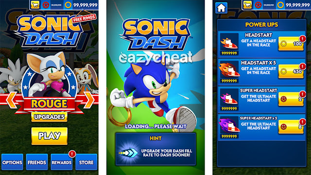 Sonic Dash 4.1 Mod, Currency/All Characters